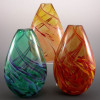 Jewel Bud Vase-color:left to right- Cool Mix, Salmon, Hot Mix