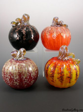 Pumpkins: Midnight, Orange Glitter, Red/Gold, Sunrise. Bottom Row: Red Glitter, Sunrise Glitter