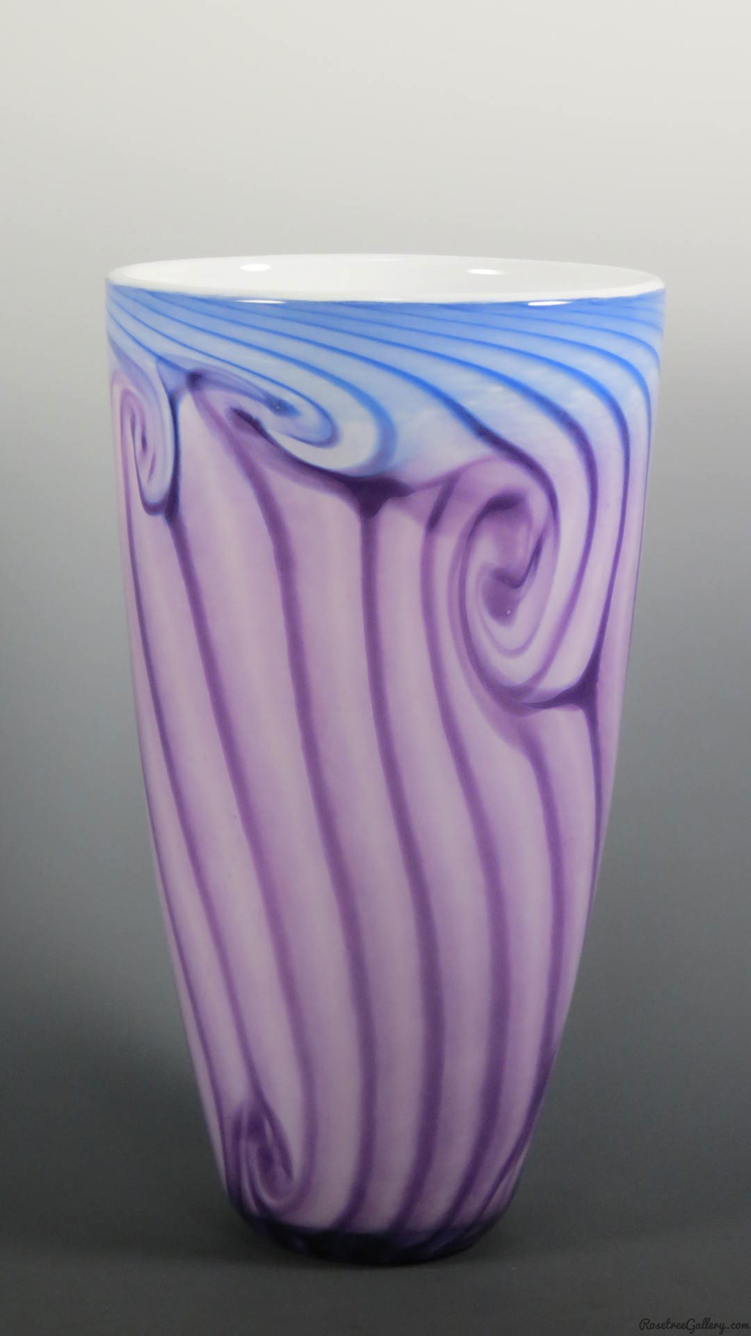 Two Tone Cone Vase Rosetree Blown Glass