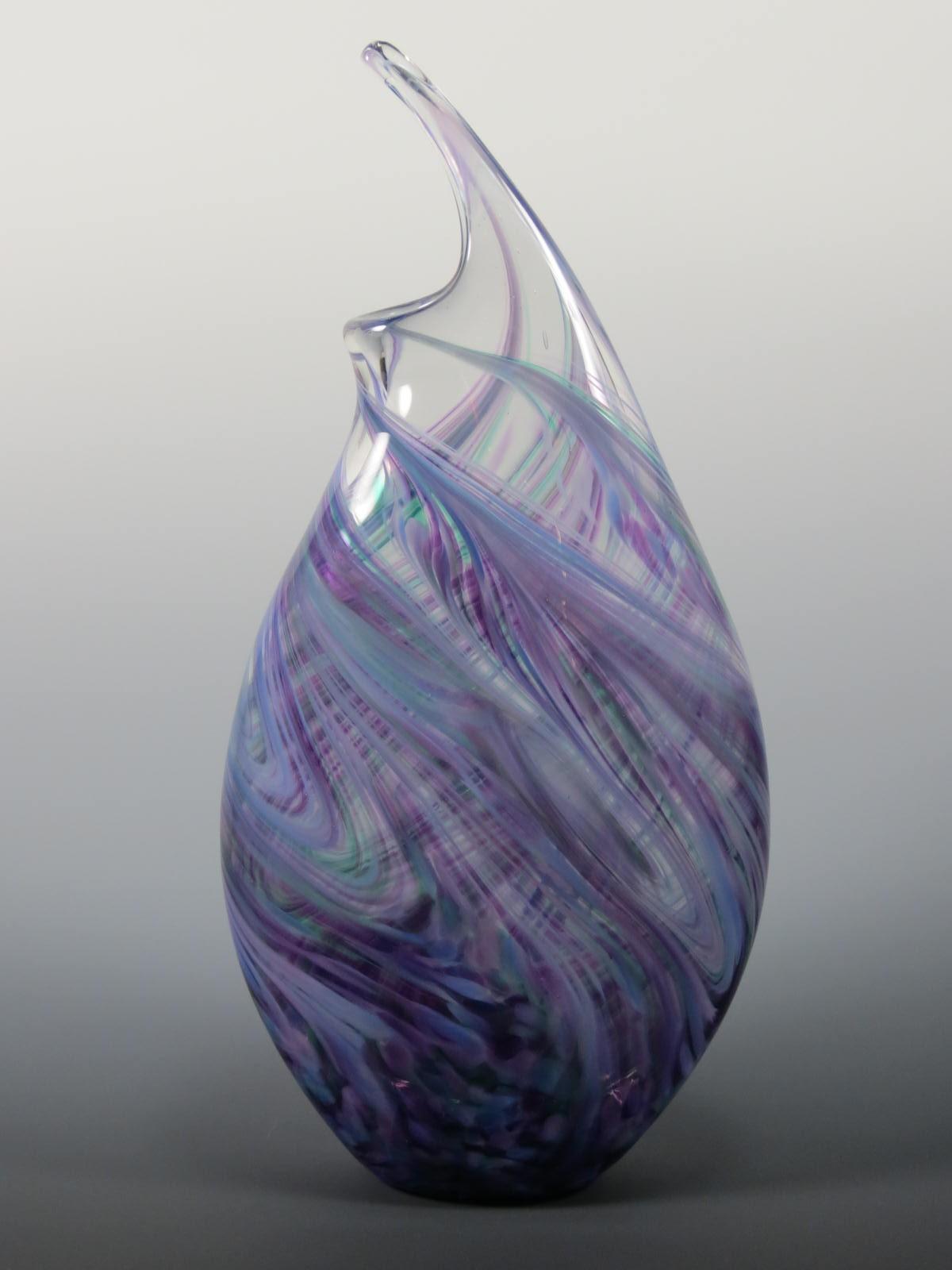 wave vase rosetree blown glass