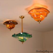 Ceiling Fixtures - color: Amber/Black/White, Blue/Green, and Amber/White.