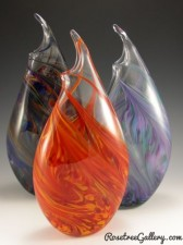 Wavy Vase-color:left to right-Rainbow, Hot Mix, Cool Mix
