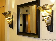 Wall Sconce-color: Amber/Black/White