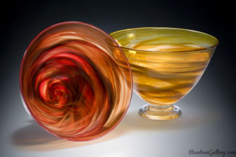 Deep Bowl Large-color:Red, Amber