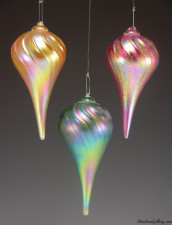 Iridized Pointed-color:left to right-Gold, Green, Pink