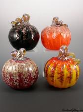 Pumpkins: Midnight, Orange Glitter, Red/Gold, Sunrise. Bottom Row: Red Glitter, Sunrise Glitter