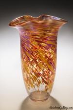 Iridized Rowena Vase-color: Hot Mix