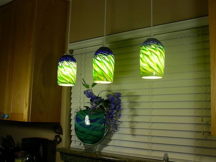 green glass pendant lighting kitchen retro glasspendantlights rosetree blown glass
